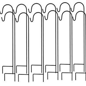 12 Ashman Shepherd's Hooks and 8 glass votives